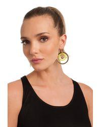 Trina Turk | Metallic Sw Frontal Hoop Earring | Lyst