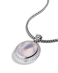 David Yurman Metallic Oval Pendant with Lavender Moon Quartz