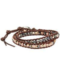 Chan Luu | Pink 12' Rose Gold/tamba Double Wrap Bracelet | Lyst