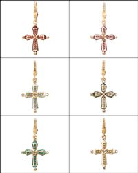 Jay Strongwater - Metallic Birthstone Cross Charm - Lyst