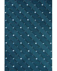 Armani - Green Tie In Micro Patterned Silk for Men - Lyst