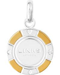 Links of London Metallic Sterling Silver And 18-carat Gold Poker Chip Charm