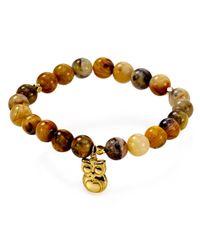 Argento Vivo Brown Owl Beaded Bracelet