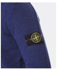 Stone Island - Blue Buttoned Wool Sweater for Men - Lyst