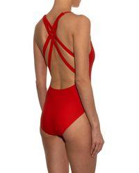 Rachel Comey Red Dive Scoop-back Swimsuit