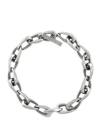 Vince Camuto | Metallic Silvertone Oblong Links Necklace for Men | Lyst