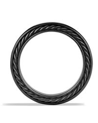 David Yurman   Black Streamline Three-row Band Ring With Sapphires   Lyst
