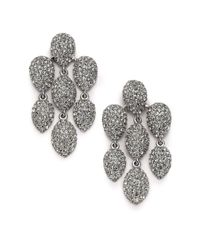 Adriana Orsini | Metallic Pavé Crystal Chandelier Earrings/silvertone | Lyst