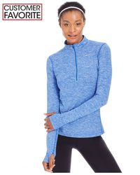 Nike   Blue Element Dri-fit Half-zip Running Top   Lyst