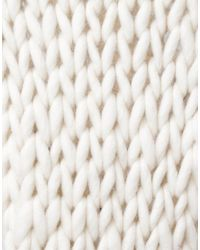Wool And The Gang   White Shaggy Scarf   Lyst