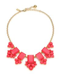kate spade new york | Metallic Daylight Jewels Cluster Necklace | Lyst