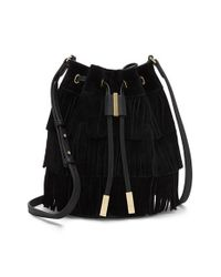 Vince Camuto | Black 'joni' Suede Crossbody Bag | Lyst
