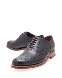 Foot The Coacher Black Angus Wingtip Leather Oxford Brogues for men