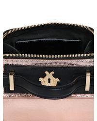 Giancarlo Petriglia Pink Mini Clary Metallic Elaphe Shoulder Bag