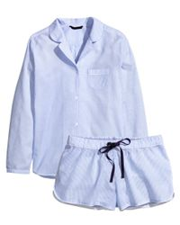 H&M Blue Cotton Pyjamas