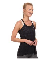 Nike Black Dri-fit™ Cool Breeze Strappy Tank Top