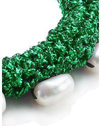 Lucy Folk   Green Midori Crochet Pearly Bracelet   Lyst