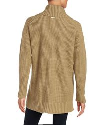 MICHAEL Michael Kors | Natural Knit Open-front Sweater | Lyst