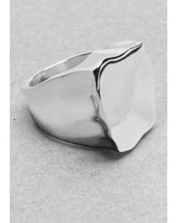 & Other Stories | Metallic Sculpted Brass Ring | Lyst