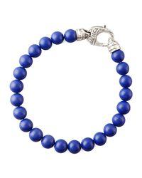 Stephen Webster | Metallic Beaded Lapis Bracelet for Men | Lyst