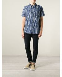 Paul Smith | Blue Leaves Print Shirt for Men | Lyst