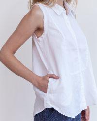 Marrakech   White Elizabeth Linen Top - Solid   Lyst