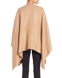 Burberry - Natural Charlotte Check-lined Wool Cape - Lyst