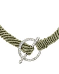 Ruby Kovo - Green Pave Diamond Toggle Bracelet - Lyst