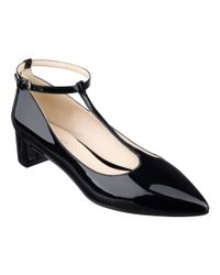 Nine West | Black Elicia T-strap Pumps | Lyst