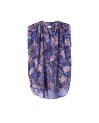 Rebecca Taylor | Purple Sonic Garden Sleeveless Silk Top | Lyst