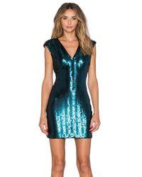 Lovers + Friends - Blue Envy Bodycon Dress - Lyst