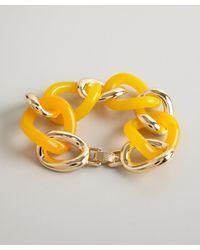 Kenneth Jay Lane | Orange Gold And Citrus Resin Link Bracelet | Lyst