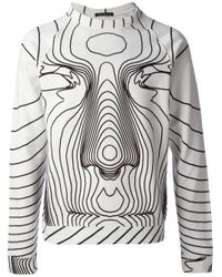 Christopher Kane - White Contour Map Print Sweatshirt for Men - Lyst
