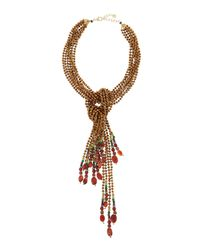 Nakamol | Red Copper Mix Lariat Necklace | Lyst