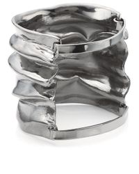Annelise Michelson | Metallic Gunmetal Small Draped Cuff | Lyst