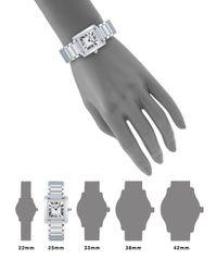 Cartier - Metallic Tank Francaise Small Stainless Steel Bracelet Watch - Lyst