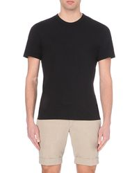 James Perse - Black Crew-neck Cotton-jersey T-shirt for Men - Lyst