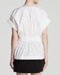Marc By Marc Jacobs White Top - Stretch Poplin Cinched Waist
