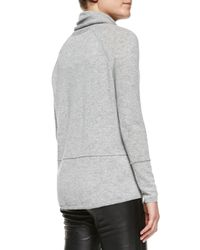 Vince - Gray Mixed-weight Cashmere Turtleneck - Lyst