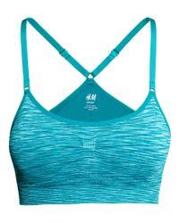 H&M Blue Seamless Sports Bra