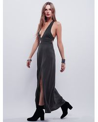 Free People | Black Geri Maxi Slip | Lyst
