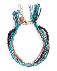 Shashi | Blue 'maya' Bracelet - Teal | Lyst
