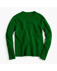 J.Crew | Green Collection Cashmere Saddle Sweater | Lyst