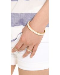 Marc By Marc Jacobs Metallic Leather Cuff Bracelet