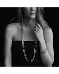 David Yurman - Metallic Metro Curb Wide Ring with Diamonds - Lyst