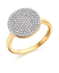 Monica Vinader - Metallic Ava Diamond Disc Ring - Lyst