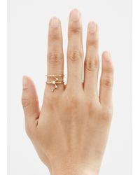 Sophie Bille Brahe Metallic Gold/diamonds Cassiopeia Ring