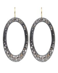 Todd Reed | Yellow Diamond Pave Hoop Earrings | Lyst