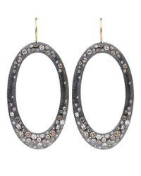 Todd Reed - Yellow Diamond Pave Hoop Earrings - Lyst