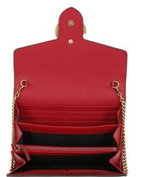 Gucci - Red Small Interlocking Cellarius Leather Bag - Lyst